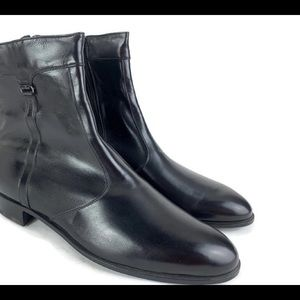 Mens 11.5 N BALLY Black Leather Dress Boots